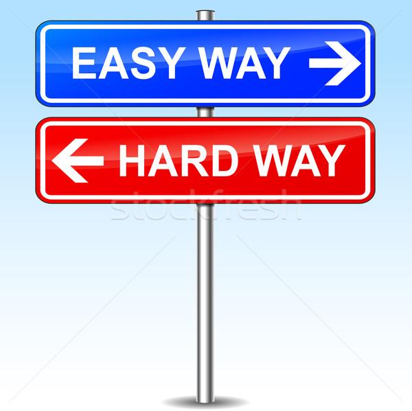 easy or hard way choice Stock photo © nickylarson974