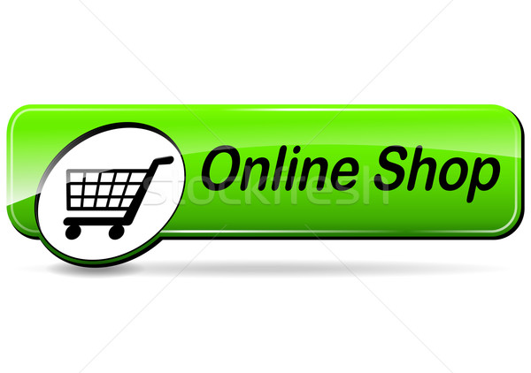 online shop web button Stock photo © nickylarson974
