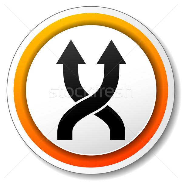 shuffle orange icon Stock photo © nickylarson974