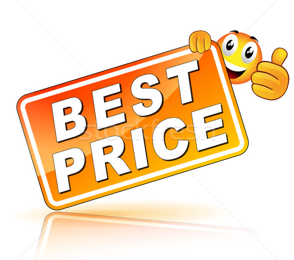 Beste prijs icon witte web store marketing Stockfoto © nickylarson974