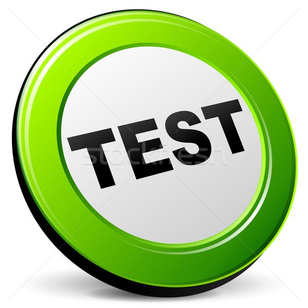 Vector test 3d icon Stock photo © nickylarson974