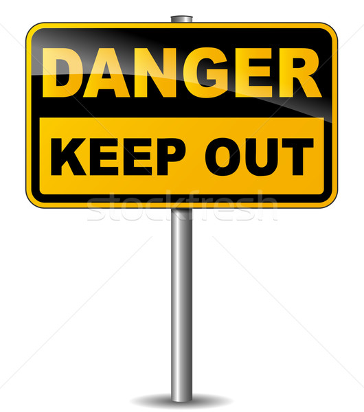 Feep out sign Stock photo © nickylarson974