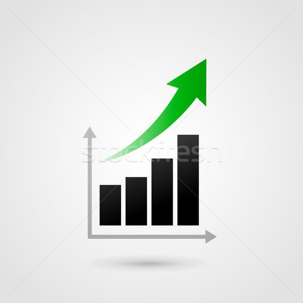 Vektor siker grafikon rácsok üzlet absztrakt Stock fotó © nickylarson974