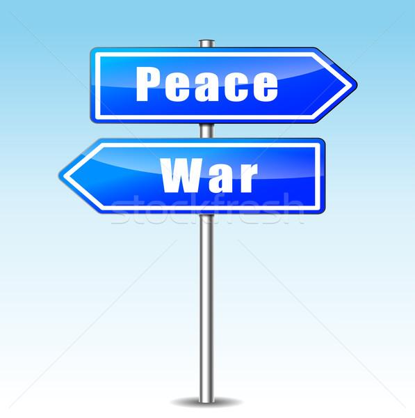 Háború béke illusztráció választás út utca Stock fotó © nickylarson974