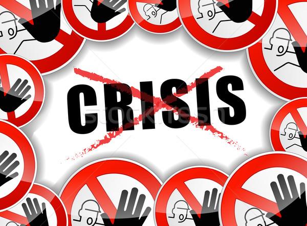 Stockfoto: Geen · crisis · illustratie · stoppen · ontwerp · abstract
