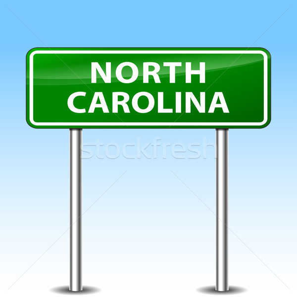 North Carolina Zeichen Illustration grünen Metall Schild Stock foto © nickylarson974