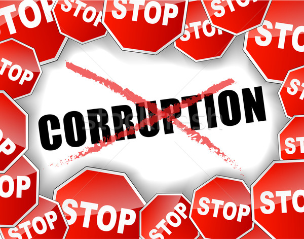 Stop corruption Stock photo © nickylarson974