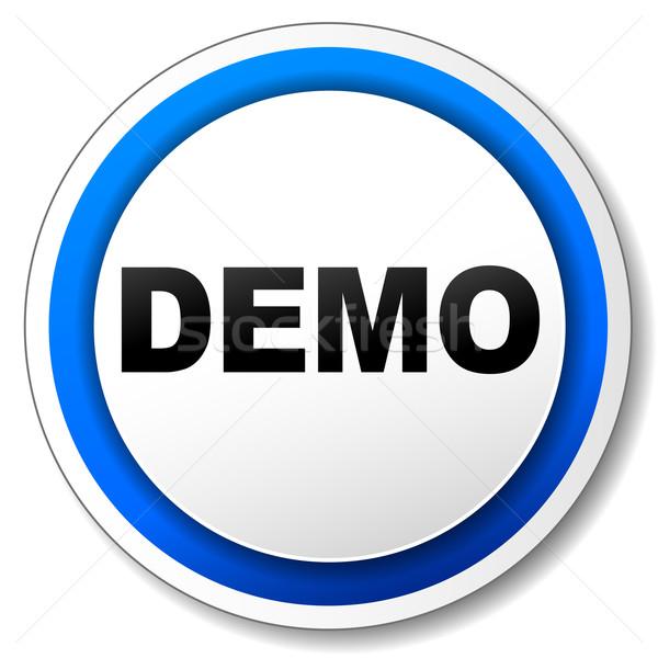 Vector demo icon Stock photo © nickylarson974