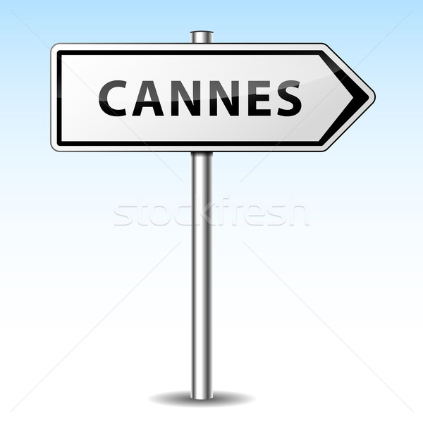 Vector cannes directional sign Stock photo © nickylarson974