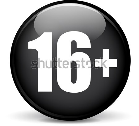 Vector sixteen icon Stock photo © nickylarson974