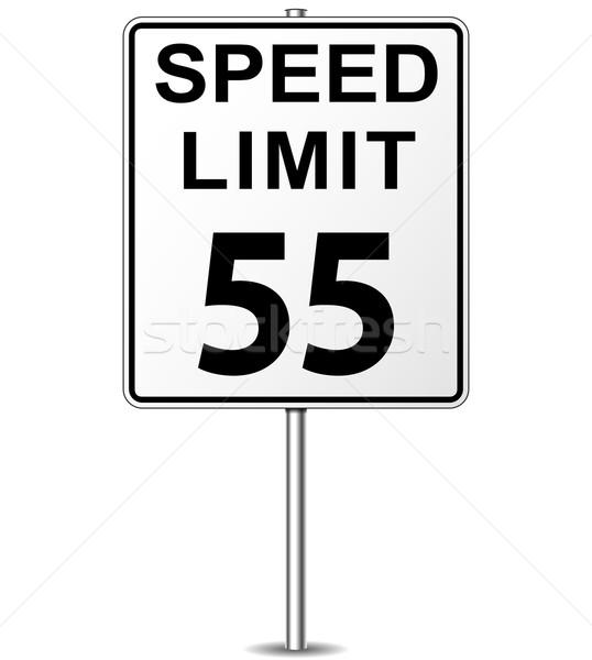 Stok fotoğraf: Vektör · hız · limiti · imzalamak · elli · beş · tabelasını