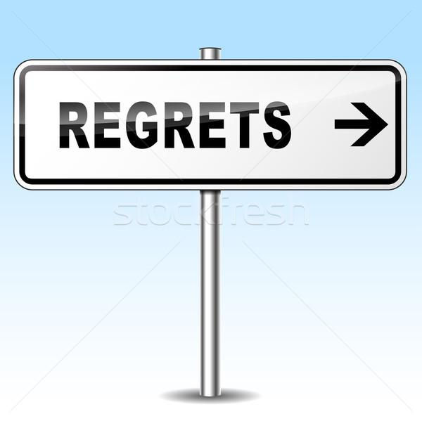regrets sign Stock photo © nickylarson974