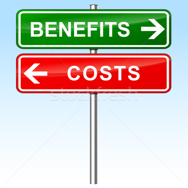 benefits and costs signs Stock photo © nickylarson974