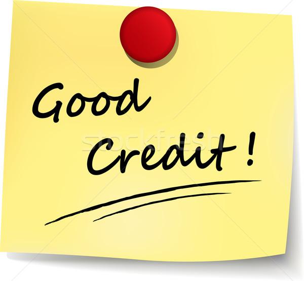 good credit note Stock photo © nickylarson974