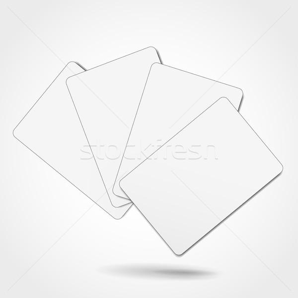 Kártyapakli illusztráció fehér terv póker kártya Stock fotó © nickylarson974