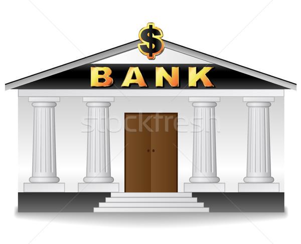 bank building on white background Stock photo © nickylarson974