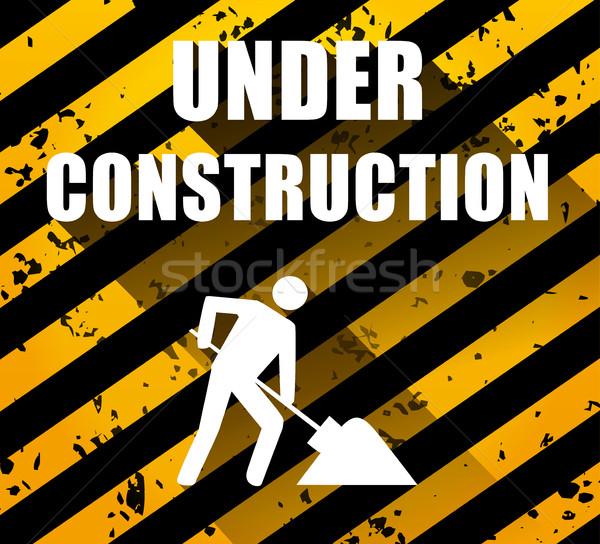 építkezés illusztráció árnyék internet férfi munka Stock fotó © nickylarson974