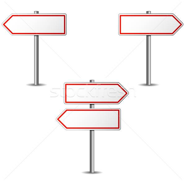 Stock photo: white arrows sign
