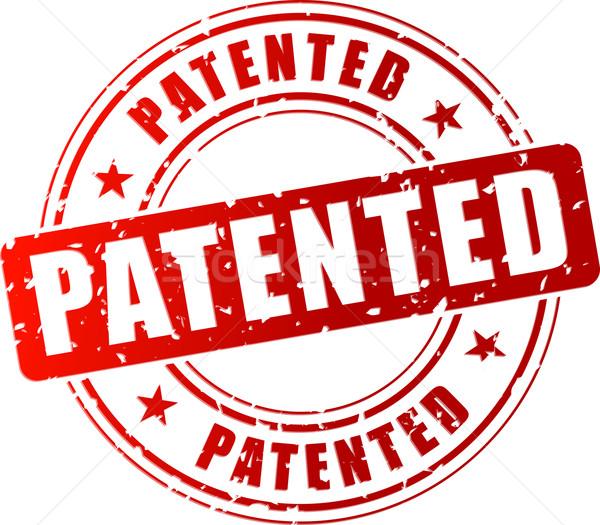 Vetor patenteado carimbo vermelho branco assinar Foto stock © nickylarson974