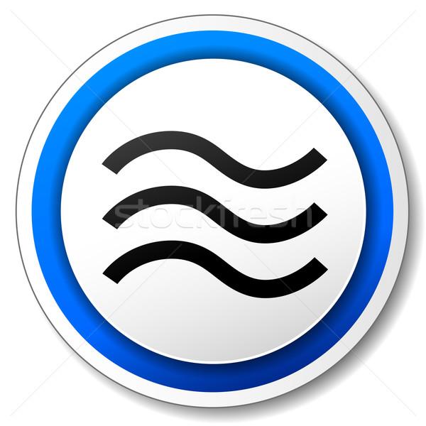 Vetor inundação ícone azul branco água Foto stock © nickylarson974