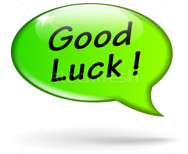 Vector good luck speech bubble Stock photo © nickylarson974