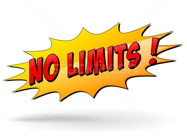 Vector no limits message Stock photo © nickylarson974