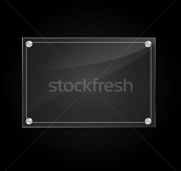 Vector black background Stock photo © nickylarson974