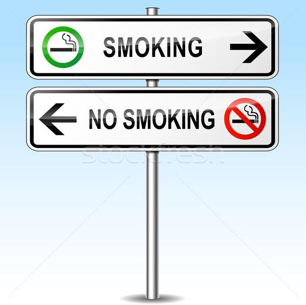 Dohányzás dohányozni tilos felirat illusztráció absztrakt fém Stock fotó © nickylarson974