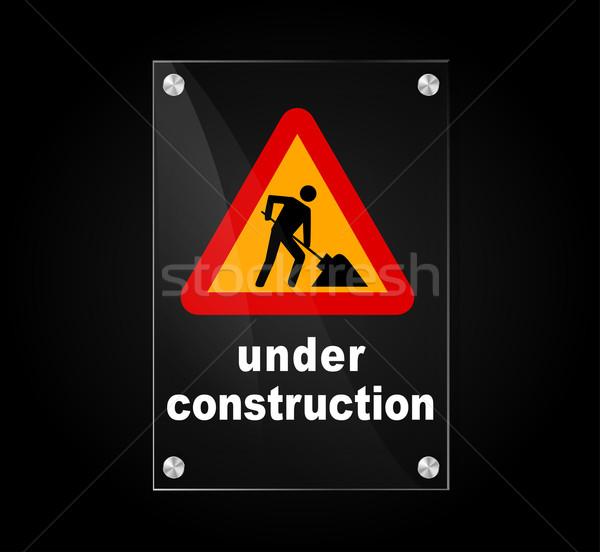 under construction sign Stock photo © nickylarson974
