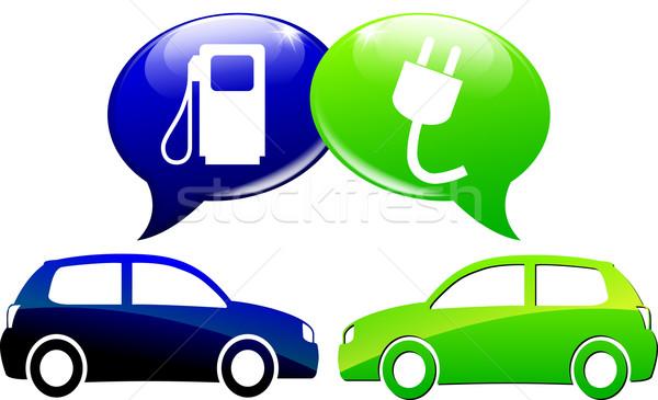 Voiture électrique illustration carburant lutte voiture technologie Photo stock © nickylarson974