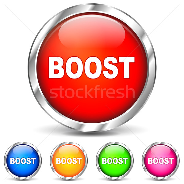 Vector boost chrome icons Stock photo © nickylarson974