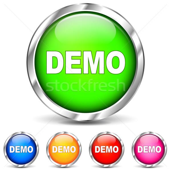 Vector demo chrome icons Stock photo © nickylarson974