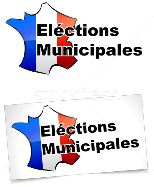 Helyhatósági választások iroda buli piros fehér Stock fotó © nickylarson974