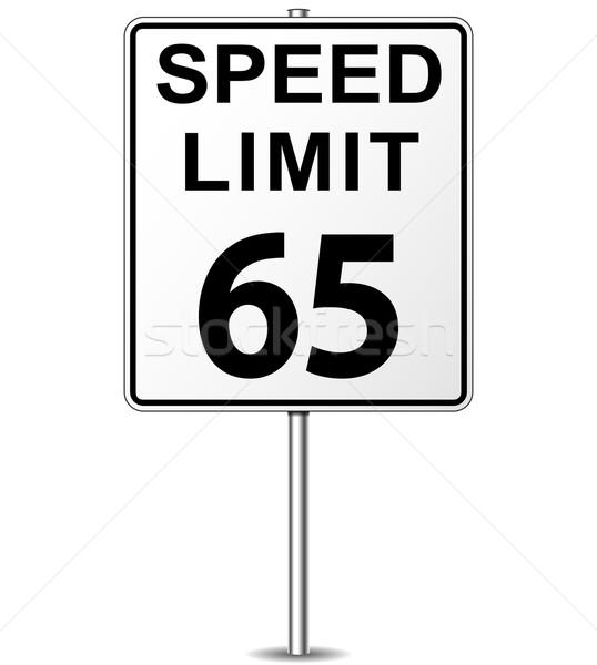 Stok fotoğraf: Vektör · hız · limiti · imzalamak · altmış · beş · tabelasını