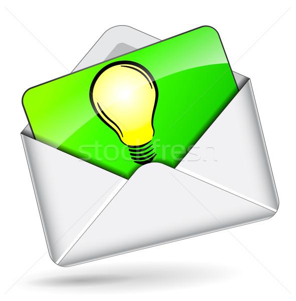 Vector lightbullb in mail icon Stock photo © nickylarson974