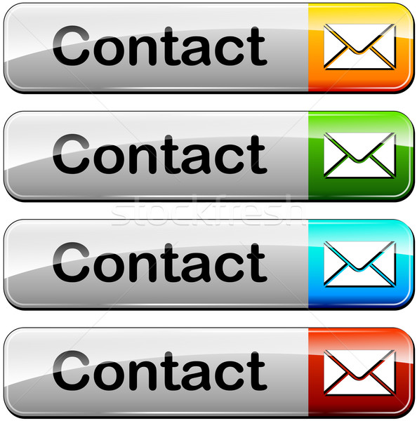 contact buttons Stock photo © nickylarson974