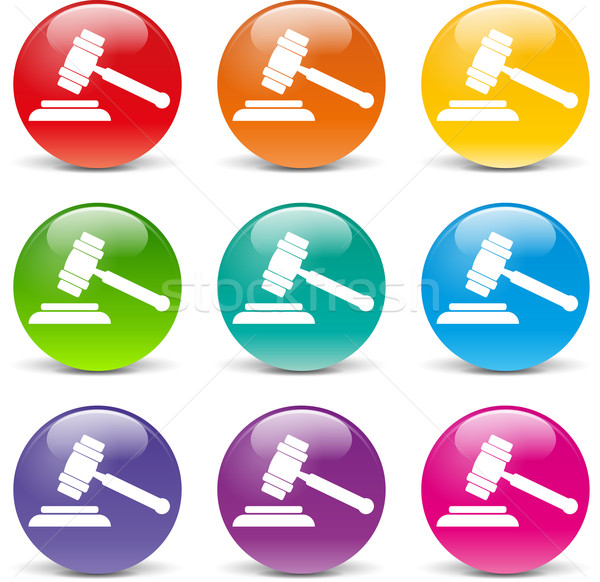 árverés ikonok gyűjtemény különböző színek háttér Stock fotó © nickylarson974