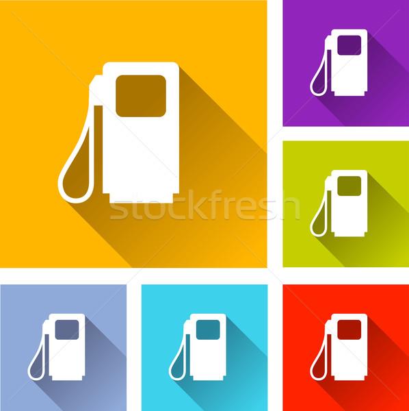 üzemanyag ikonok illusztráció terv szett narancs Stock fotó © nickylarson974