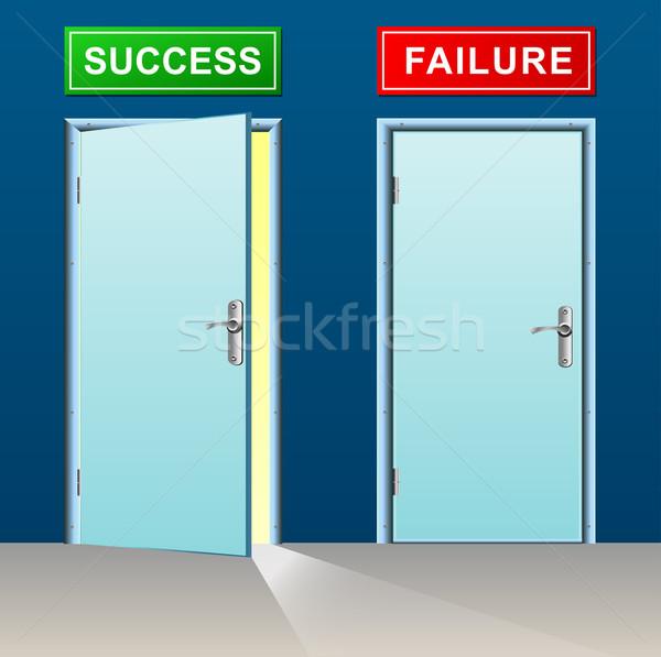 éxito fracaso puertas ilustración diseno puerta Foto stock © nickylarson974