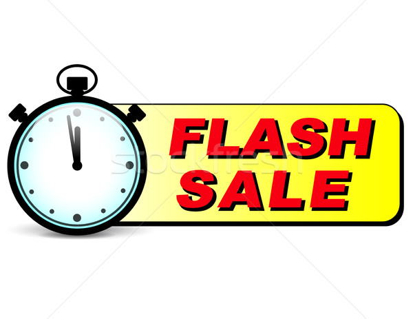 flash sale text with stopwatch Stock photo © nickylarson974