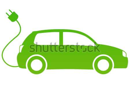 Auto elettrica design tecnologia segno verde elettrici Foto d'archivio © nickylarson974