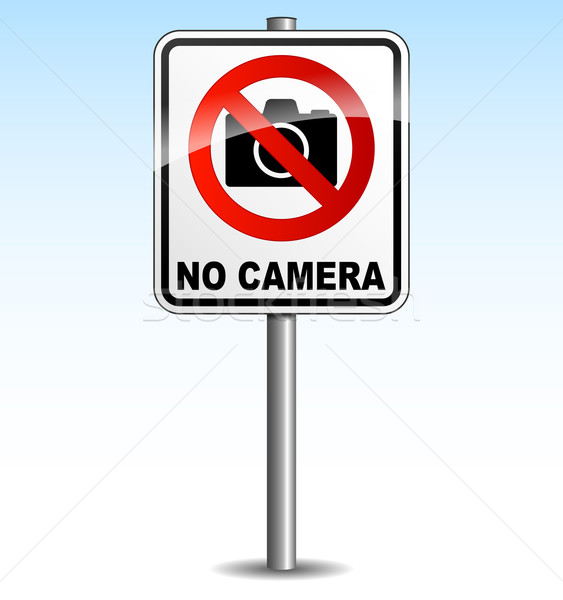 Vector camera sign Stock photo © nickylarson974