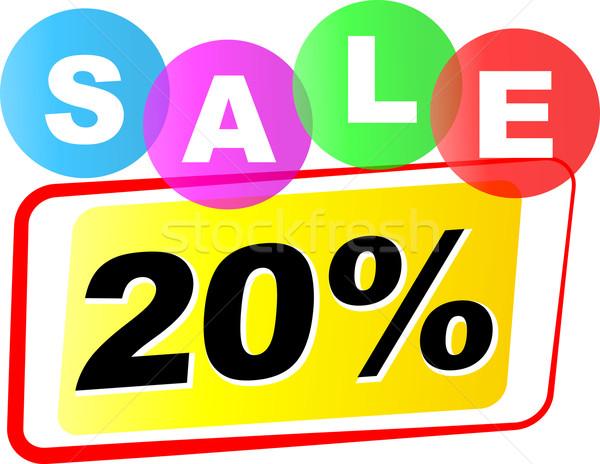 Vector twenty percent sale icon Stock photo © nickylarson974