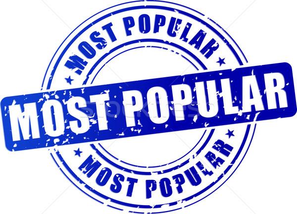 Popularny ikona ilustracja niebieski pieczęć podpisania Zdjęcia stock © nickylarson974