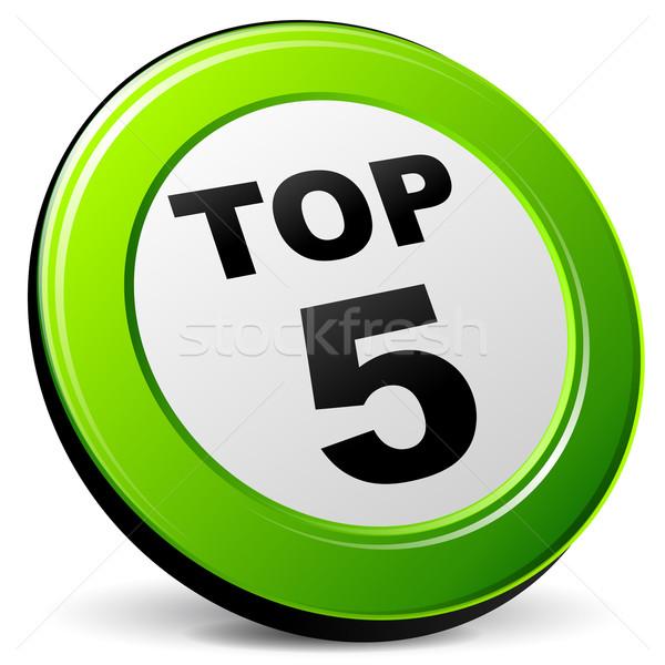 Top vijf icon illustratie tien 3D Stockfoto © nickylarson974