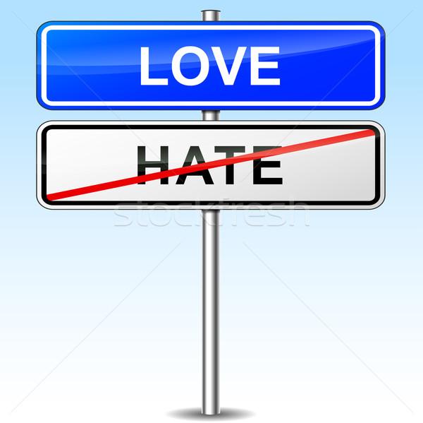 Sevmek imzalamak örnek mavi yol soyut Stok fotoğraf © nickylarson974