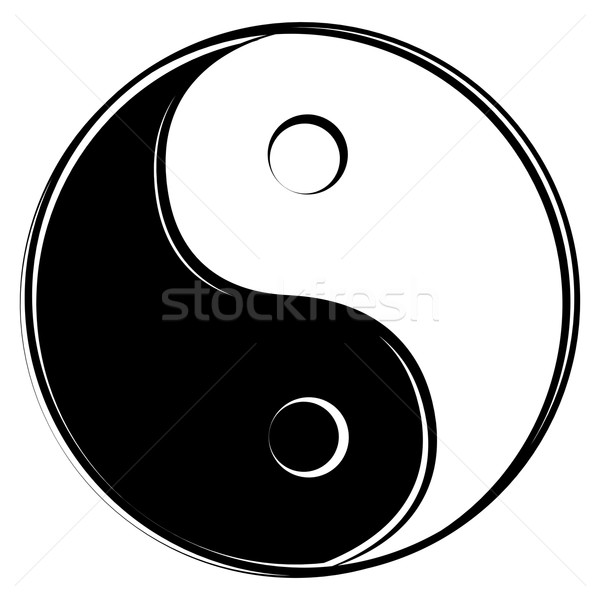 Stock fotó: Yin · yang · felirat · absztrakt · terv · labda · kínai