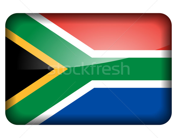 South Africa icon witte ontwerp teken land Stockfoto © nickylarson974