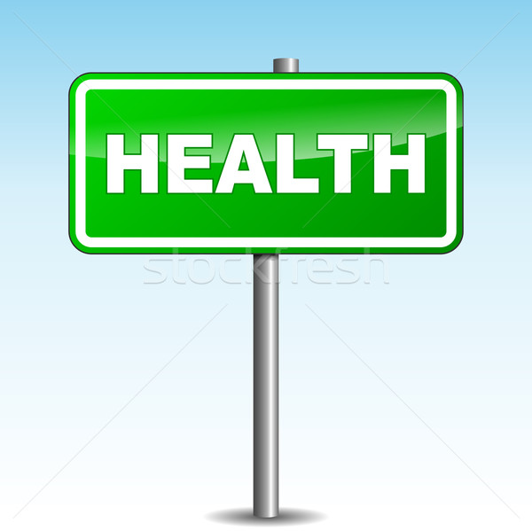 Vector health signpost Stock photo © nickylarson974
