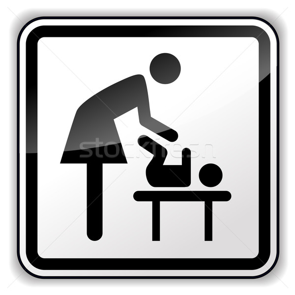 Vector baby changing sign Stock photo © nickylarson974
